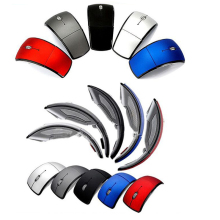 New optical mouse foldable wireless light arc shaped  bluetooth gaming for pc laptop