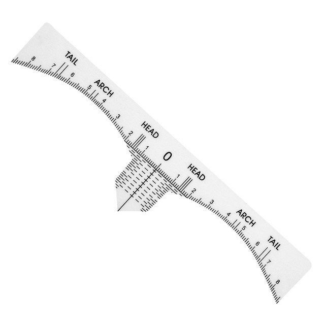 10pcs Disposable Ruler Sticker Positioning Tatoo Eyebrow Permanent Makeup Symmetrical Tool Grooming Stencil Shaper Balance Ruler 4