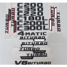 Купить с кэшбэком For Mercedes Benz C Class C63 AMG C180 C200 C220 C260 C280 C300 C320 C350 C400 Trunk Rear Emblem Badge Chrome Letters Emblems