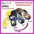 10 шт. зеленый - гери G15 коричневый желтый поляризованные зажим солнечные очки TAC линзы с UV400 CP01