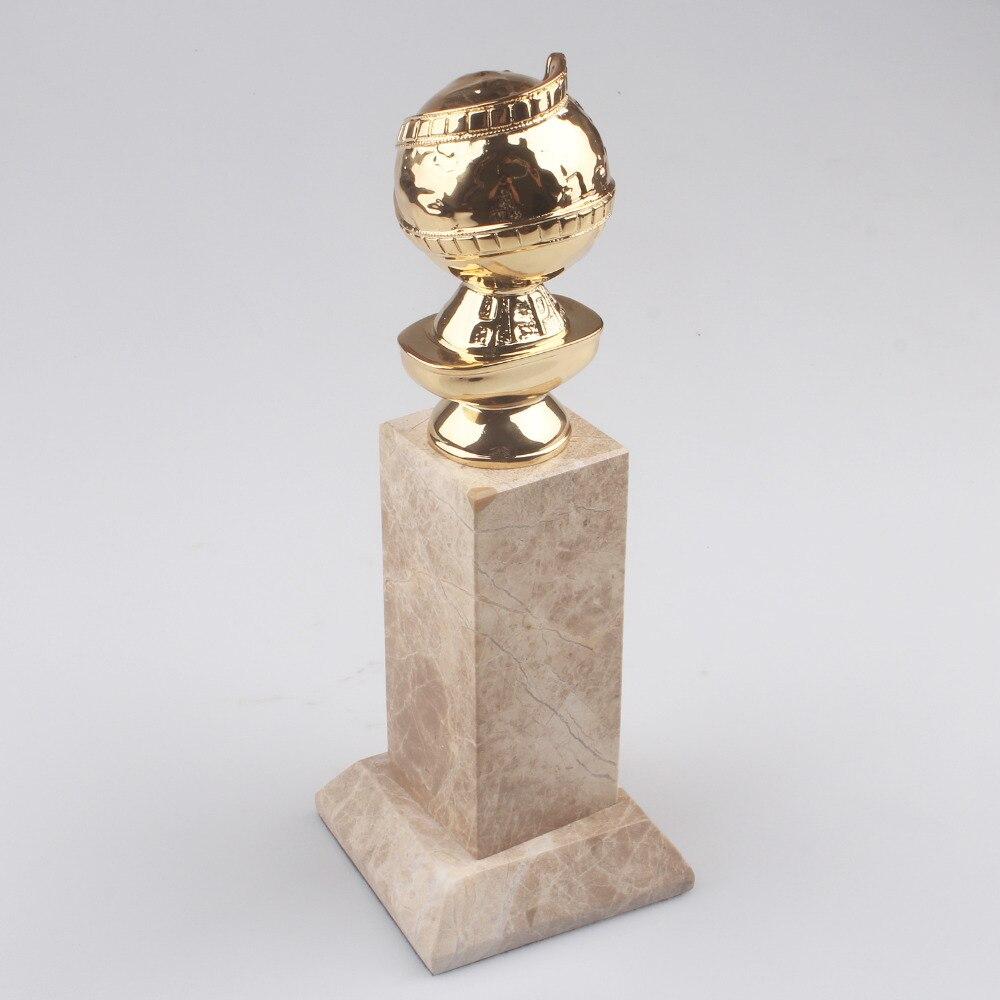Livraison gratuite prix du Globe d'or réplique de trophée de film prix du Globe d'or moulé sous pression de Zinc