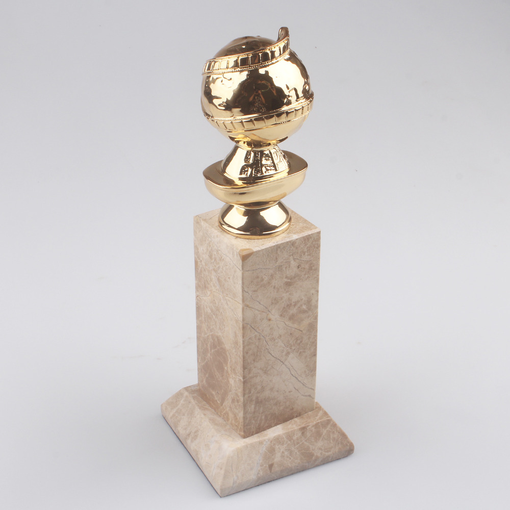 Spedizione Gratuita Golden Globe film Award Trophy Replica Zinco Pressofuso Golden Globe
