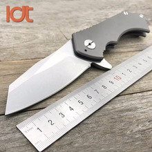 LDT Butcher Folding Knife Titanium Handle D2 Blade Hunting Camping Outdoor Knives Survival Pocket Rescue Utility Knife EDC Tool