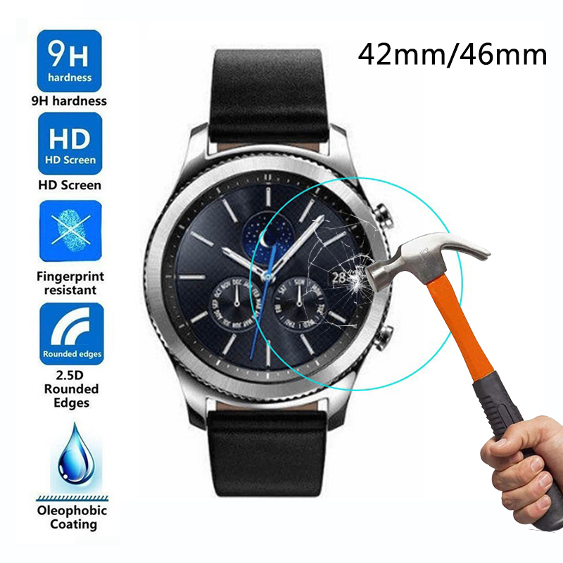 Tempered Glass for Samsung Galaxy Watch 42mm Screen Protector Film for Samsung Watch 46mm bracelet wrist band Protective Glass gpnacn 6d tempered glass for samsung galaxy s8 plus glass note 8 s9 screen protector film for samsung s9 plus full cover glass