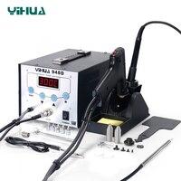 YIHUA948D гладить паяльная станция высокой частоты отсос с ручкой 3 в 1 паяльная станция