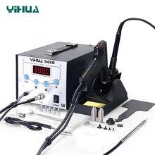 YIHUA948D محطة لحام الحديد عالية التردد شفط بندقية مع القلم 3 في 1 بغا محطة إعادة العمل