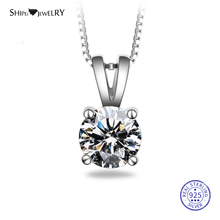 Shipei  8mm Moissanite Necklace for Women 100% 925 Sterling Silver Moissanite Pendant Wedding Necklace Anniversary Gift shipei 100