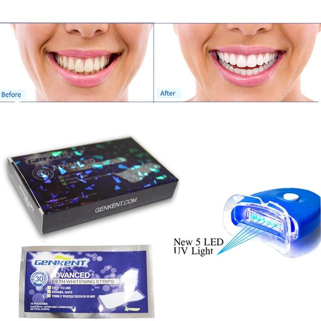 Tiras De Clareamento Dos Dentes A Laser Uv 5 Leds Luz De