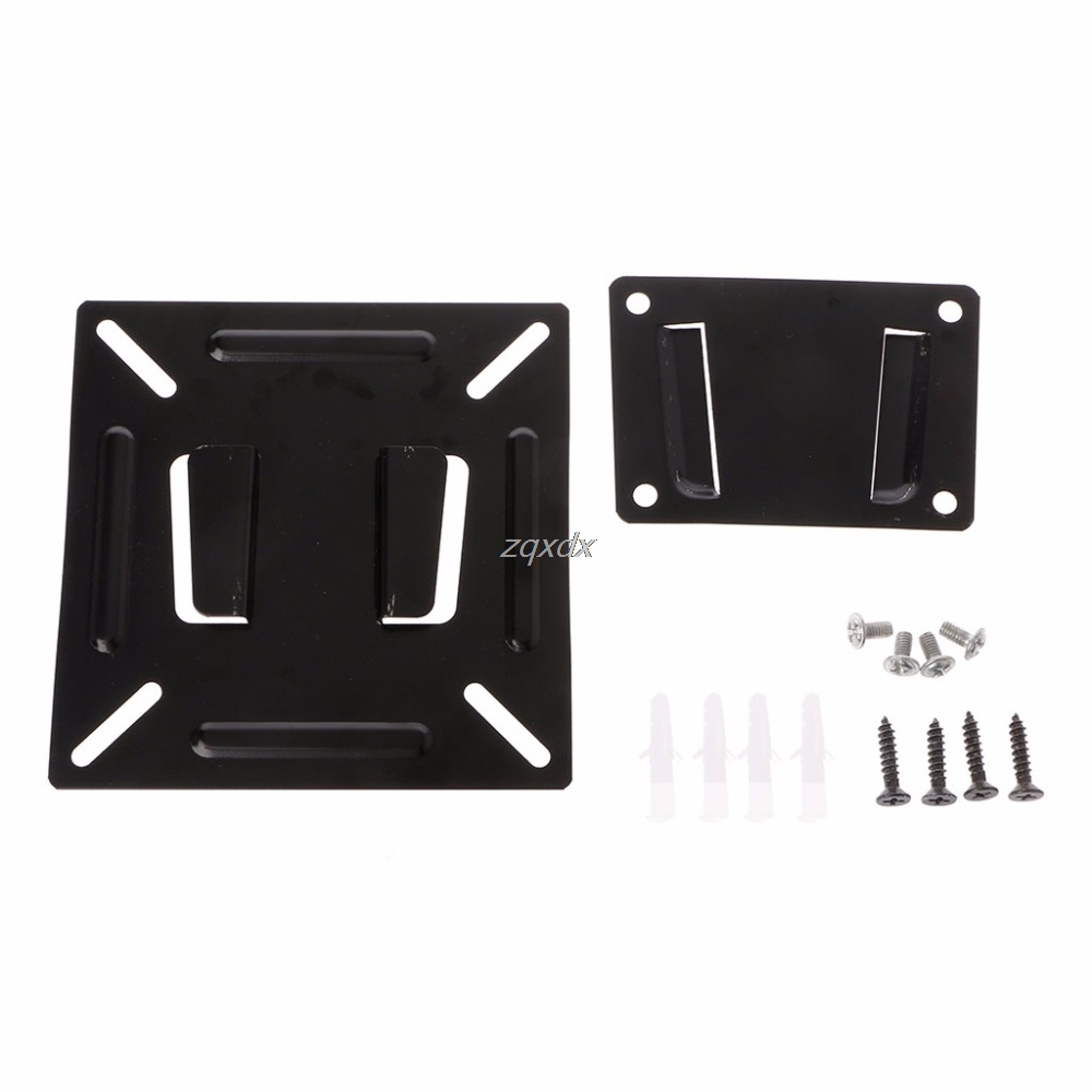 24 Tv Monitor Flat Screen Plasma Vesa 75 100 Lcd Led Wall Mount Bracket Panel