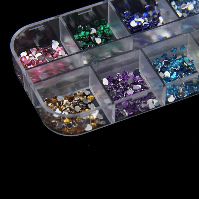 Высокая 1400 шт. 12 Цветов он Книги по искусству формы ногтей Книги по искусству Кристалл Rhinestone Смола 3D украшения DIY салон Экспресс Маникюр Инст...