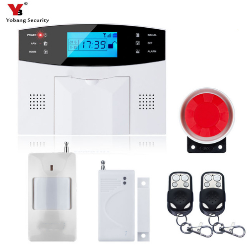 YobangSecurity Russian French Spanish Italian Polish Voice Wireless Wired GSM SMS Home Security Burglar Alarm Intercom System