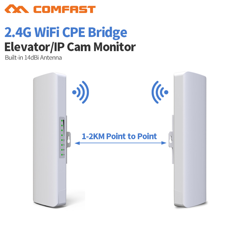 2.4Ghz Outdoor CPE Bridge 14dbi Antenna Wifi Router Long range Wi-fi Signal Extender Amplifier For Wifi Transmit or Ip cam Moni