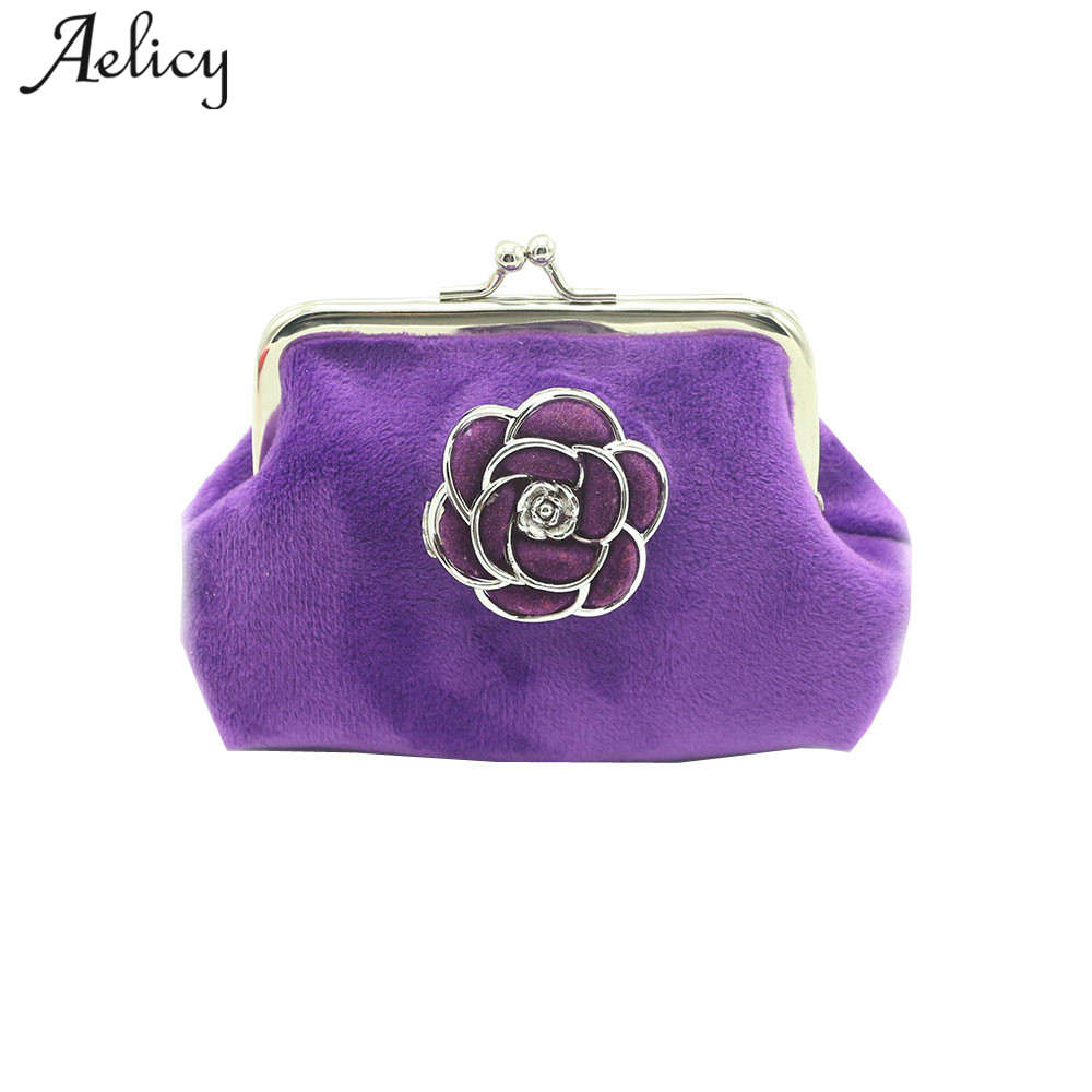 Aelicy Famous Designer Brand Hasp Coin Wallet Womens Mini Change Purse With Floral Female Small Clutch Bag Girls Money Bag Gift