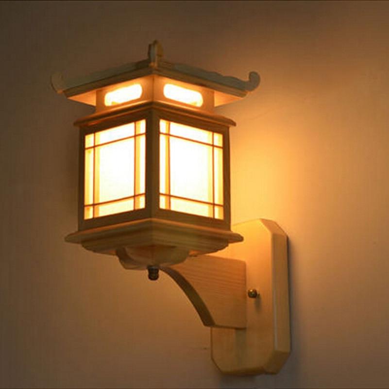 Retro chinesische Wandlampe für Schlafzimmer Wohnzimmer, antike - Innenbeleuchtung - Foto 3