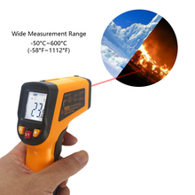 Infrared Thermometer Laser Pyrometer -50~600C -58~1112F Non-contact LCD IR Thermometer Gun Point Temperature Meter Backlight