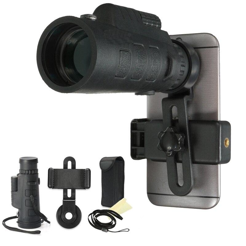 imágenes para Universal 35x50 HD Monocular Telescopio Óptico Zoom Lente de Teléfono Estudio de Observación del Telescopio Acampar Con Soporte Para Teléfonos Inteligentes