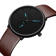 BIDEN Leather Watches For Men Ultra Thin Quartz Male Wrist Cheap Watch Simple Mens 2019 Clock Top Brand Luxury Relogio Masculino new fashion guanqin mens watches top brand luxury gold steel clock male simple ultra thin unisex quartz watch relogio masculino