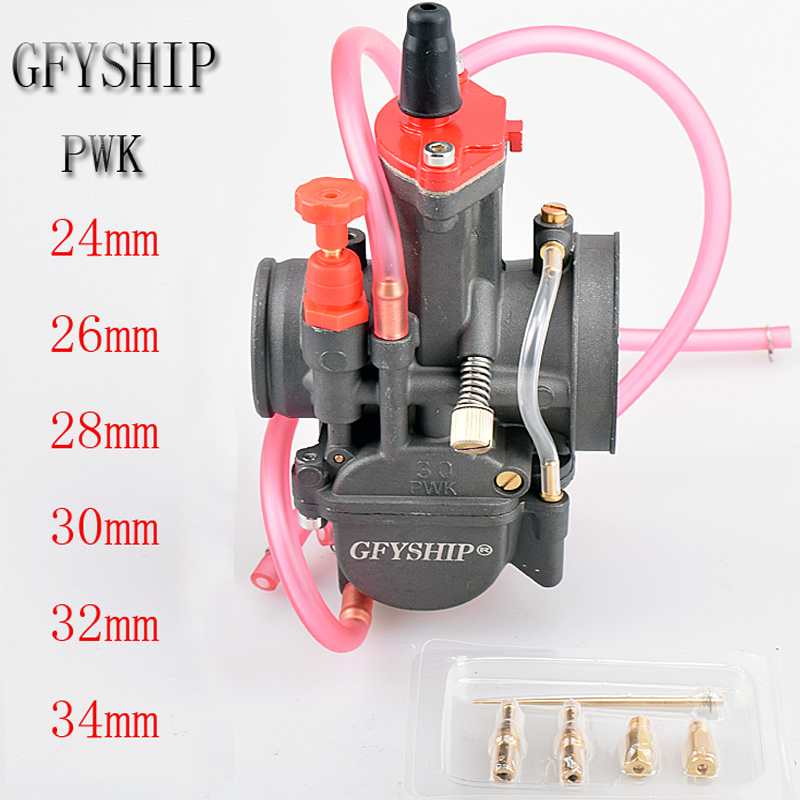 universal Racing 2T 4T engine Carburetor carburador Power Jet Motorcycle scooter UTV ATV motor <font><b>pwk</b></font> 24MM 26MM 28MM 30MM 32MM <font><b>34MM</b></font> image