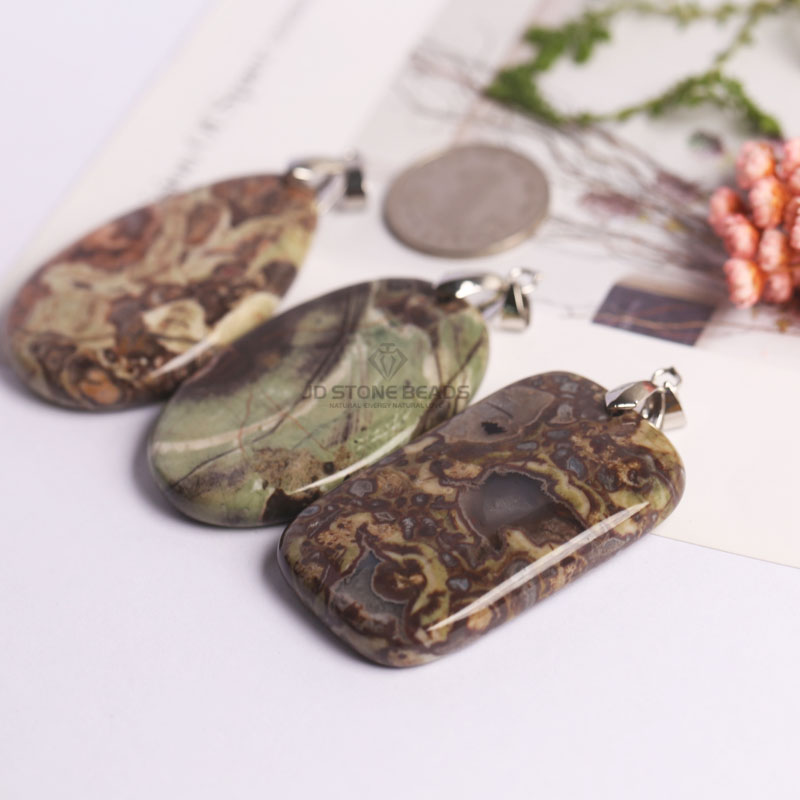 Free Shipping Natural Flower Agate Pendants   Wholesale Unique  Jewelry Design  Accessories   Charms