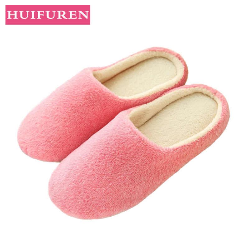Slippers Women 2019 Indoor House plush Soft Cute Cotton Slippers Shoes Non-slip Floor Home Slippers Women Slides For Bedroom