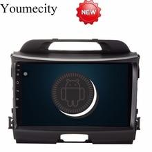Youmecity Android 8,1 Octa Core головное устройство автомобиля DVD плеер для KIA Sportage R 2014 2011 2012 2013 2015 Gps Wi-Fi радио Bluetooth