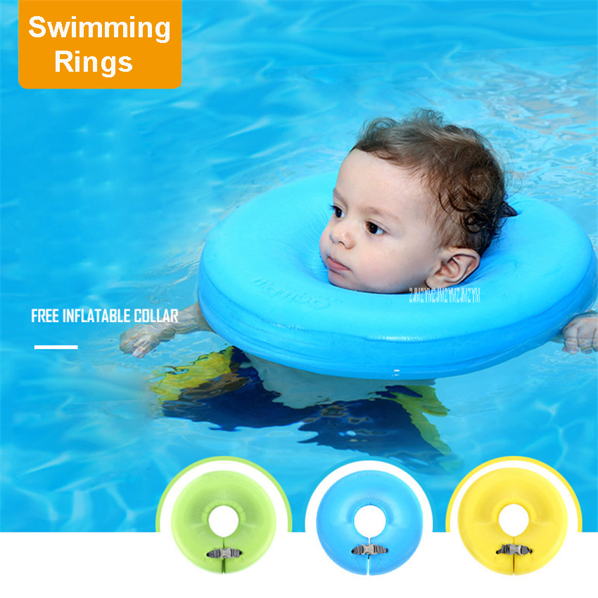 Solid Baby Swimming Neck Ring Baby Neck Float Flot Adores Para ...