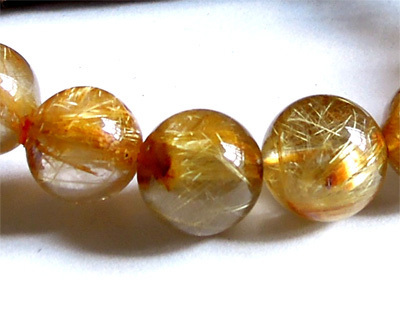 Desconto de atacado genuine natural titanium ouro rutilo quartz pulseira trecho rodada contas loose 10mm fit jóias diy 02360