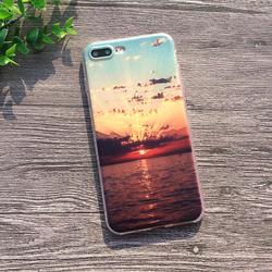 Soft Silicon Cover Case For Apple iPhone 8 7 7Plus 6 6S Plus 5S SE Cases iPhone X Shell Printing Sunrise Over The Sea Styles 2