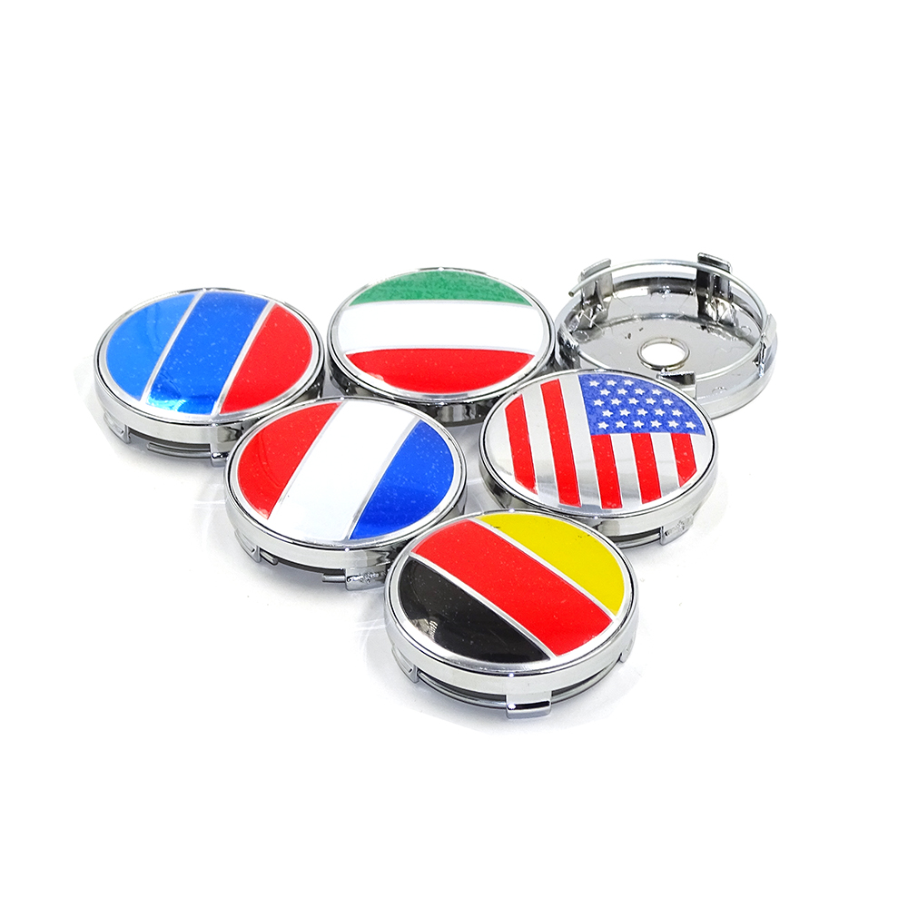 56/60MM USA FRANCE Italy, Germany, Russia flag logo Car wheel center <font><b>hub</b></font> <font><b>cap</b></font> Auto badge emblem for <font><b>BMW</b></font> VW TOYOTA lada honda image
