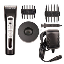 CkeyiN LCD Display Hair Clipper Trimmer For Men Ceramic Titanium Blade Hair Shaver Portable Hairclipper Electric Cutting Machine