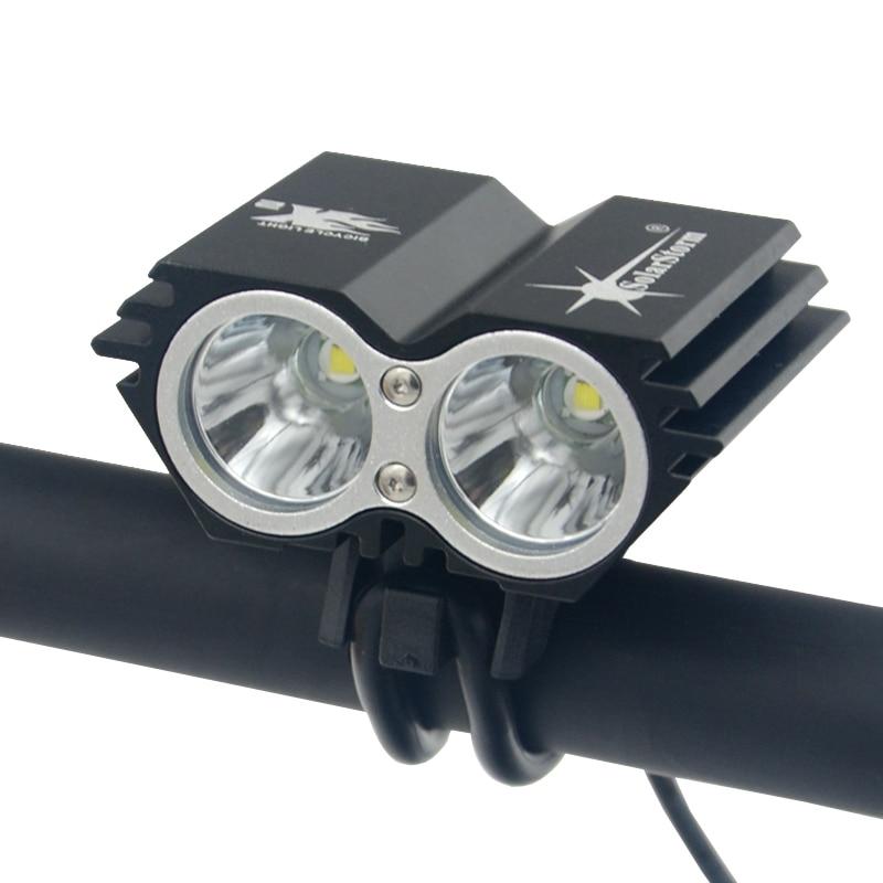 SolarStorm X2-lampe de vélo étanche, lampe Flash, batterie rechargeable + chargeur, phare de vélo LED lm