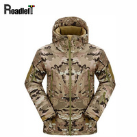 Mens TAD Gear Soft Shell Outdoor Fleece Waterproof Jackets Men Tactical Camouflage Army Military Hunting Clothes