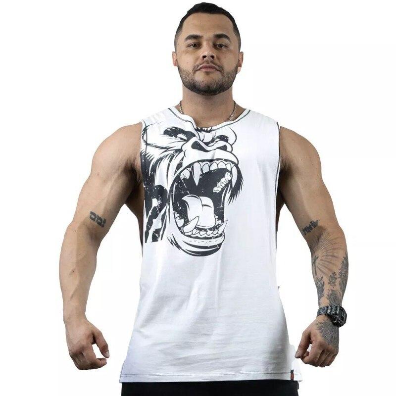 New Gorilla Wear Muscle cotton   Tank     Tops   For Men Print Sleeveless gyms Stringer   Tank     Tops   Male