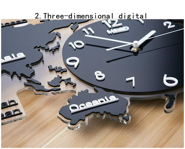 Online shop geekcook120x55cm nordic modern simple geometric wall 120x55cm nordic modern simple geometric wall clock world map creative decoration clocks living room background wall wall clock tim20170808101205 gumiabroncs Images