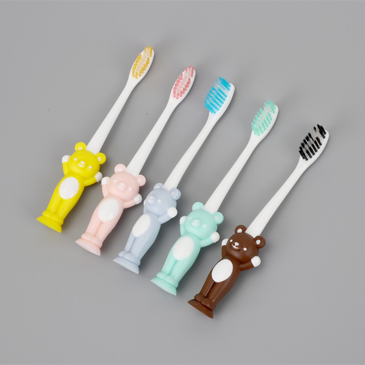 1Pcs Soft Bristle Tooth Brush Baby Toothbrush Soft Bristle Cute Rabbit Bear Design Toothbrushes Kid Dental Care Random Color image