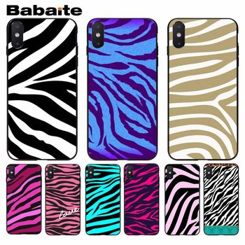 Babaite White Black pink Gold Zebra Perfect Cool soft Phone Case For iphone 8 8plus and 7 7plus 6s 6s Plus 6 6plus 5s Cellphones image