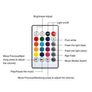 Image 5 - VONTAR E27 B22 kablosuz Bluetooth hoparlör + 12W RGB ampul LED lamba 110V 220V akıllı Led ışık müzik çalar ses uzaktan kumanda ile