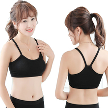 *Screaming Retail Price Women Solid Strap Yoga Sports Fitness Bra Cotton Female