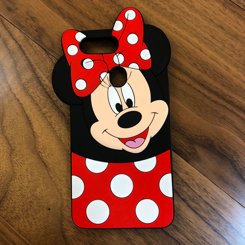 3D Cartoon Minnie Soft Silicone Phone Case For OPPO F7 Case Funda For OPPO R15