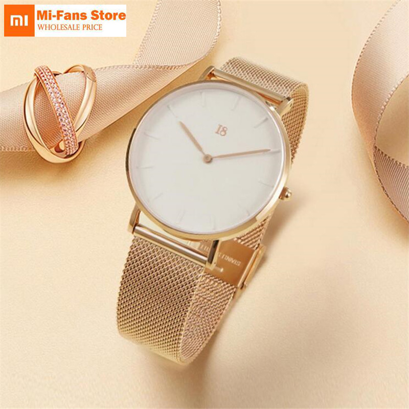 Xiaomi I8 Simple Quartz Watch Modern Design Light Luxury Watch Equipped With Steel Belt Best Gift