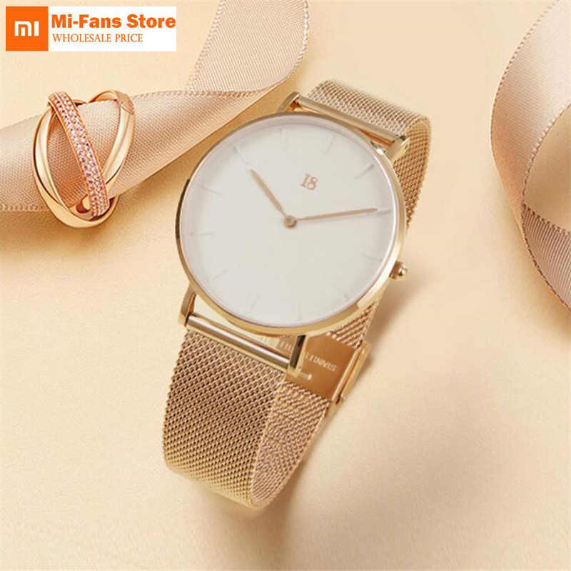 Xiaomi I8 Simple Quartz Watch Modern Design Light Luxury Watch Equipped With Steel Belt Best Gift for Man woman for smart home