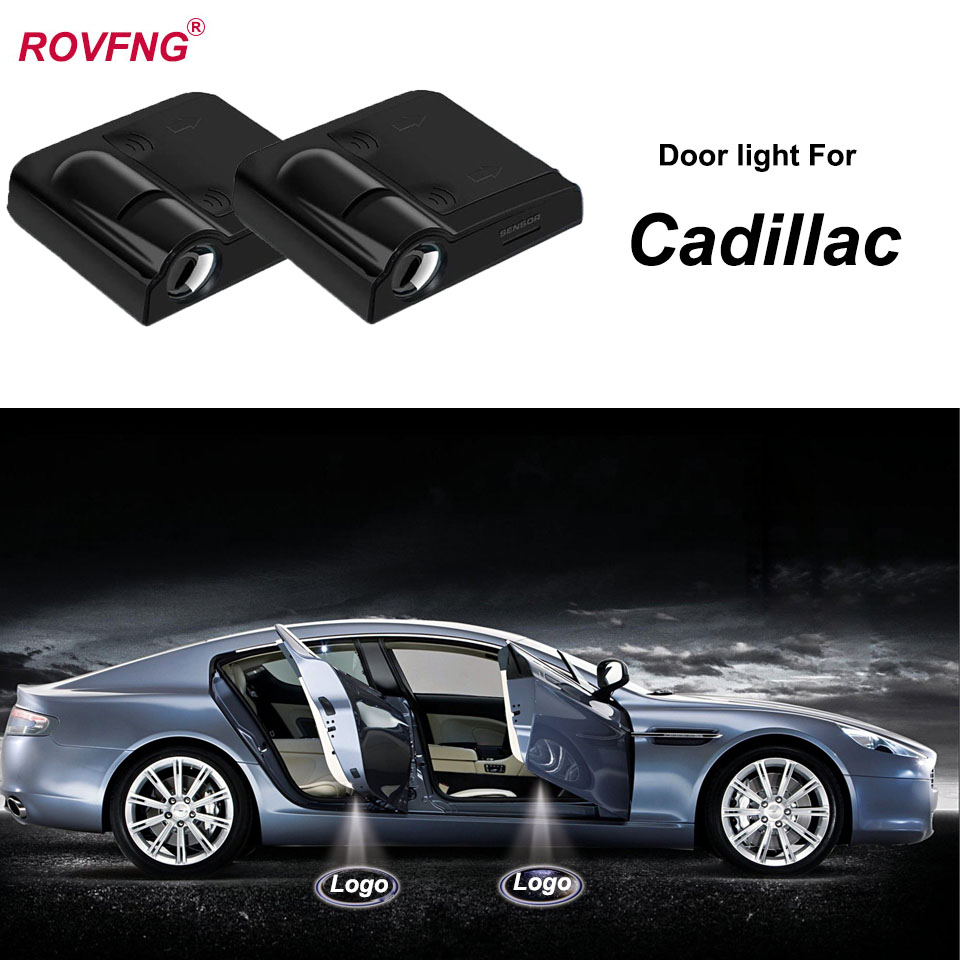 ROVFNG Welcome Led Door Light 3D Laser Logo Projector Car Accessories For Cadillac CTS / SRX / XLR / Escalade / ELR / STS