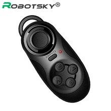 4 en 1 Disparador remoto bluetooth Gamepad inalámbrico Bluetooth para Android / iOS teléfono celular Tablet PC Mini portátil caja de TV