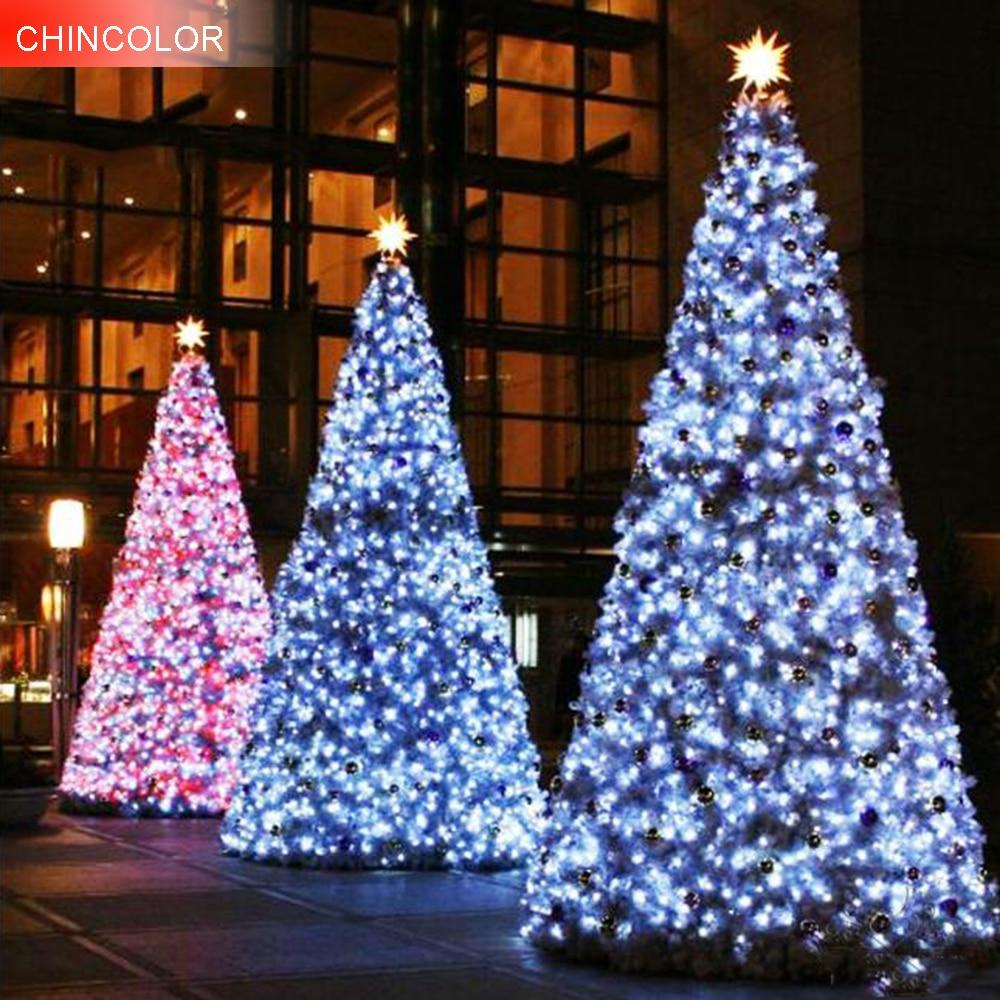 Christmas Tree Led String Lights EU/US Plug Waterproof 20-100M 200-800Leds AC220V/110V For Party Garden Holiday Home Decor JQ
