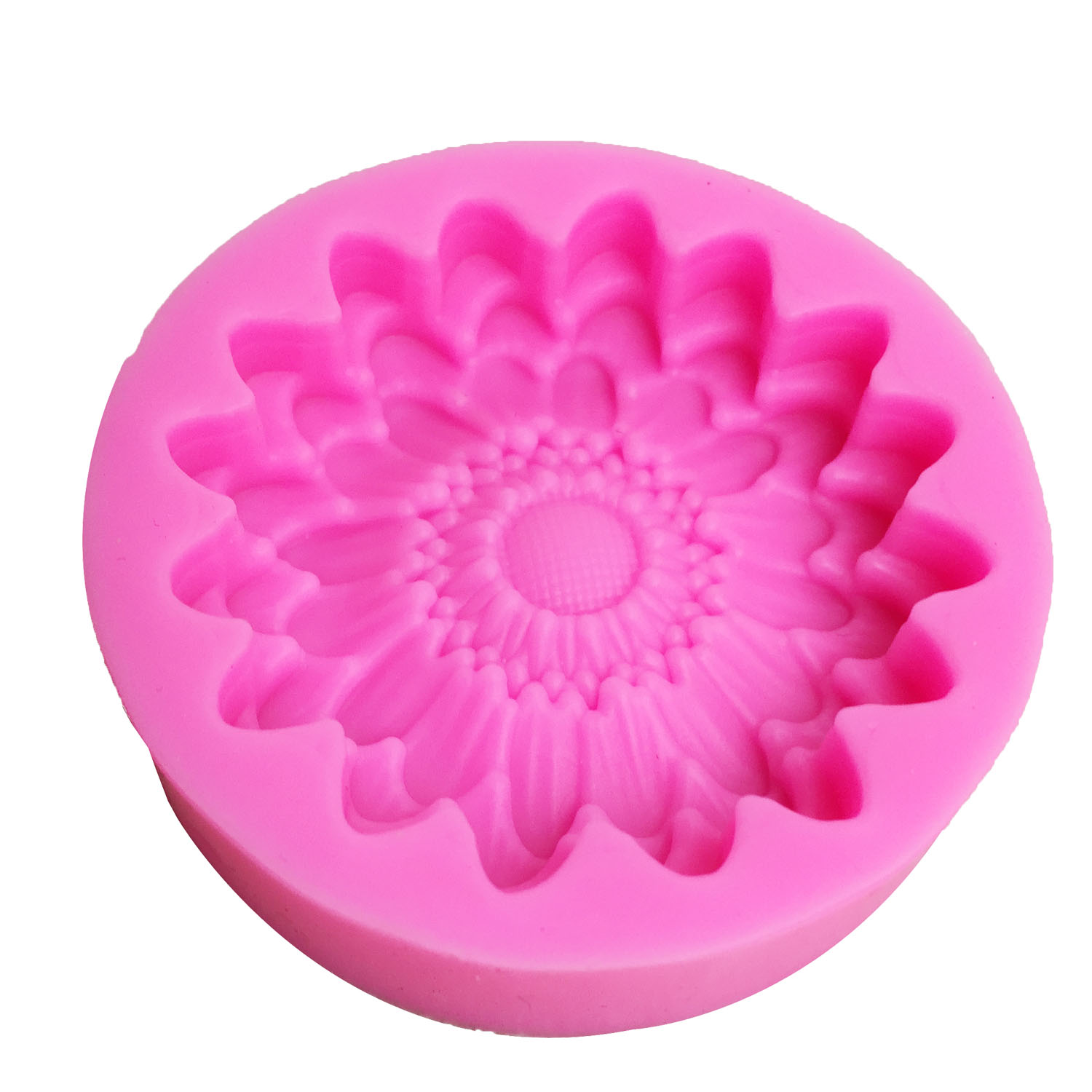 M0835 Chrysanthemums mold Flowers silicone moulds 3D jelly cake molds Sunflower cake decoration tools wholesale in Cake Molds from Home Garden