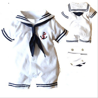New 2013 Summer Clothing Newborn Baby Boy Clothes Navy Style Clothing Baby Boy Romper Baby Overall