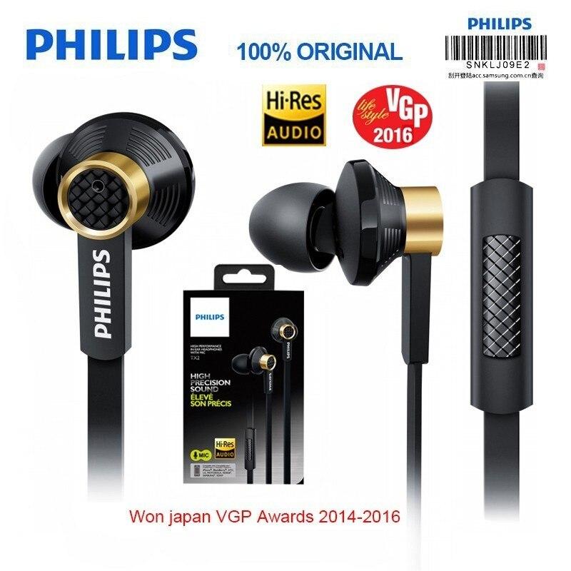 Nouveau Philips Tx2 Embauche HIFI écouteurs haute résolution fièvre écouteurs bruit de l'oreille annulation sport casque pour huawei xiaomi