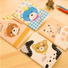 4Pcs/lot Stationery Creative Cute Cartoon Small Book Wholesale Students Children   Notebooks Office Girl And Boy small gifts