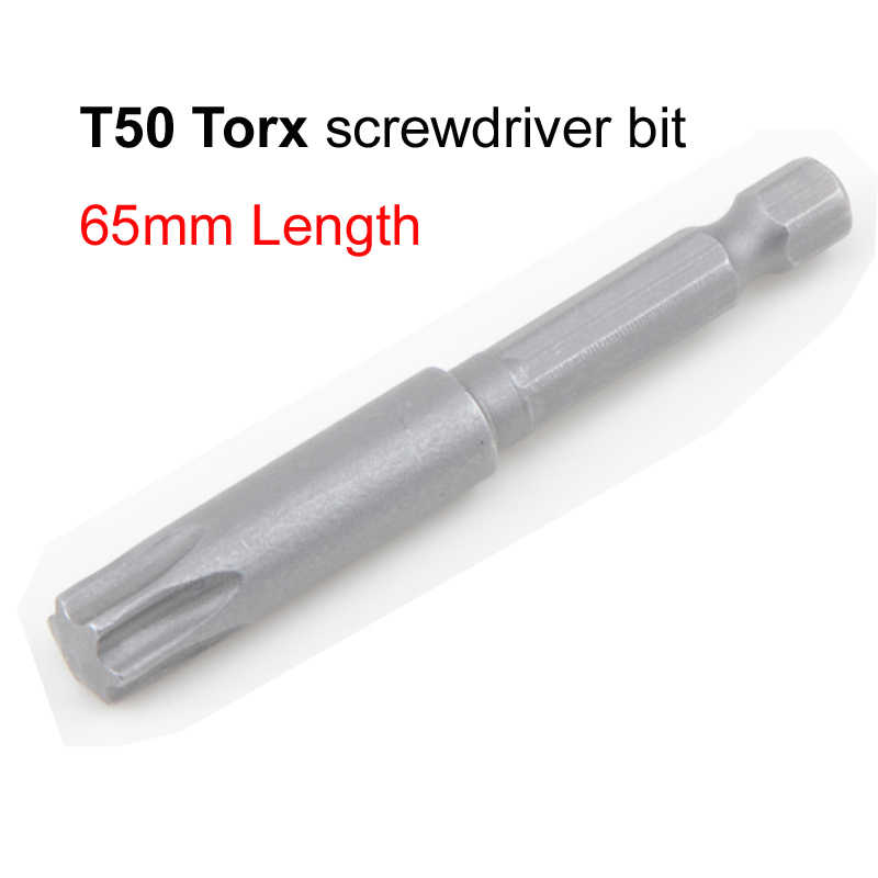S2 Alloy Steel 1/4 Inch Hex Shank 65mm Length T50 Torx Screwdriver Bits Kit Electric Star Screwdriver High Quality