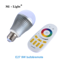 Mi.Light LED Bulb AC 110V 220V GU10 E14 E27 Lamp 2.4G Wireless Wifi Control smd 5730 Led Bulb 4W 5W 6W 9W RGBW RGBWW Spot light